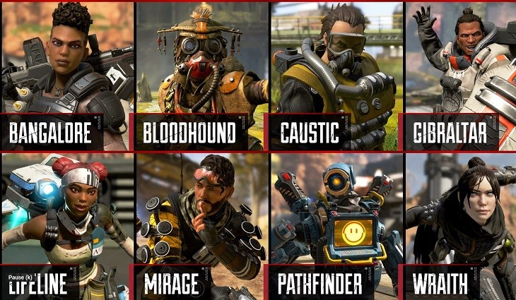 Apex Legends karakterleri apex legends